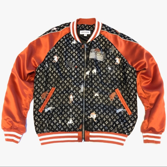 00c890f48 Custom 1-of-1 LV Satin and Silk Varsity Jacket. NWT. Louis Vuitton